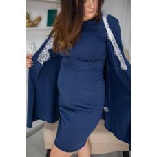 Халат и ночнушка для беременных и для кормящих Синяя Хеппи Неня S 66640202(99)